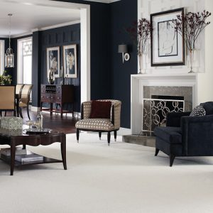 White Carpet in Living room | Carpets And More, Inc