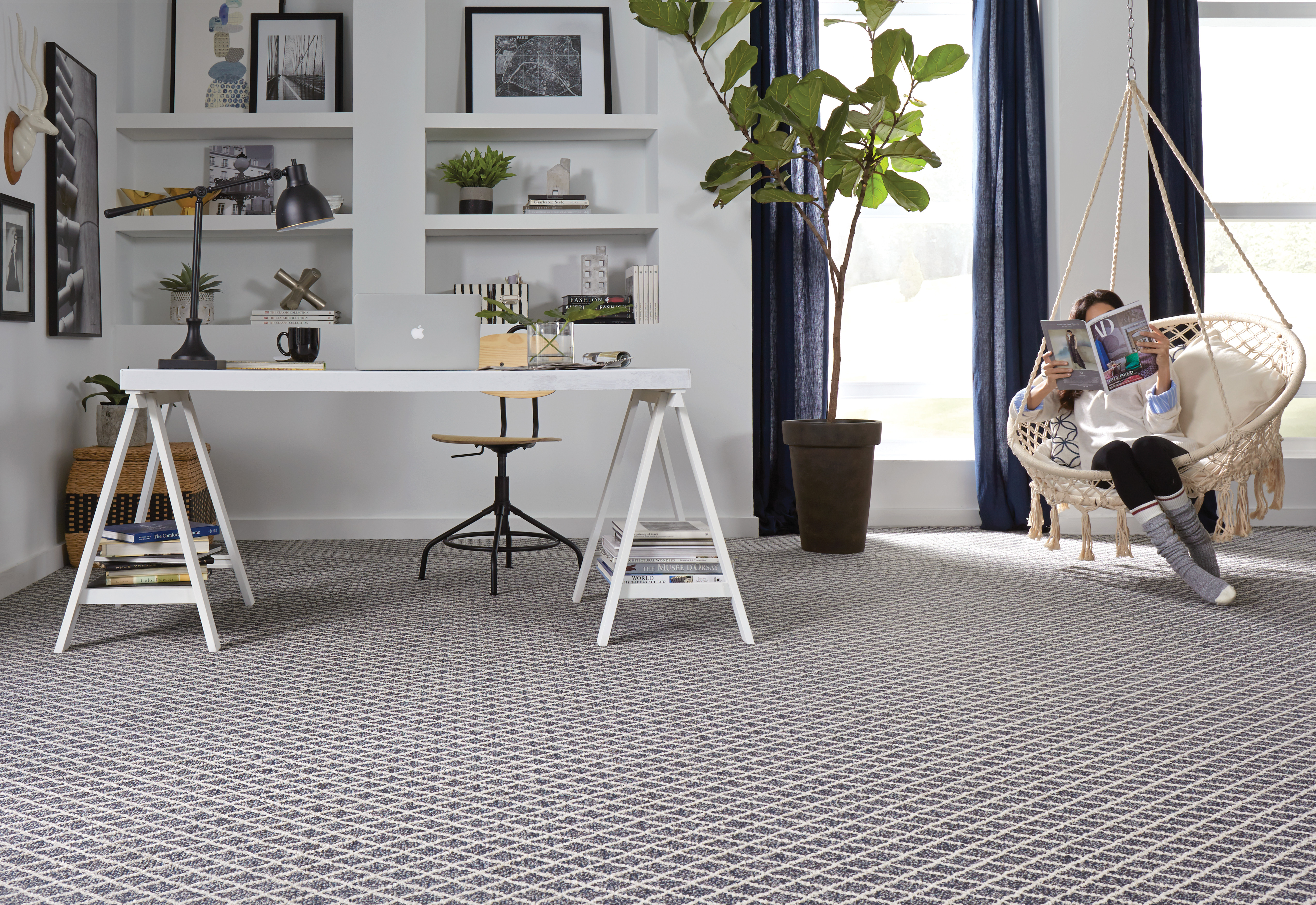 Springers Point Seaport Blue Carpeting | Carpets And More, Inc