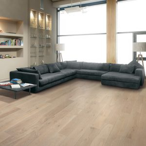 Modern living rom with vinyl flooring | Carpets And More, Inc